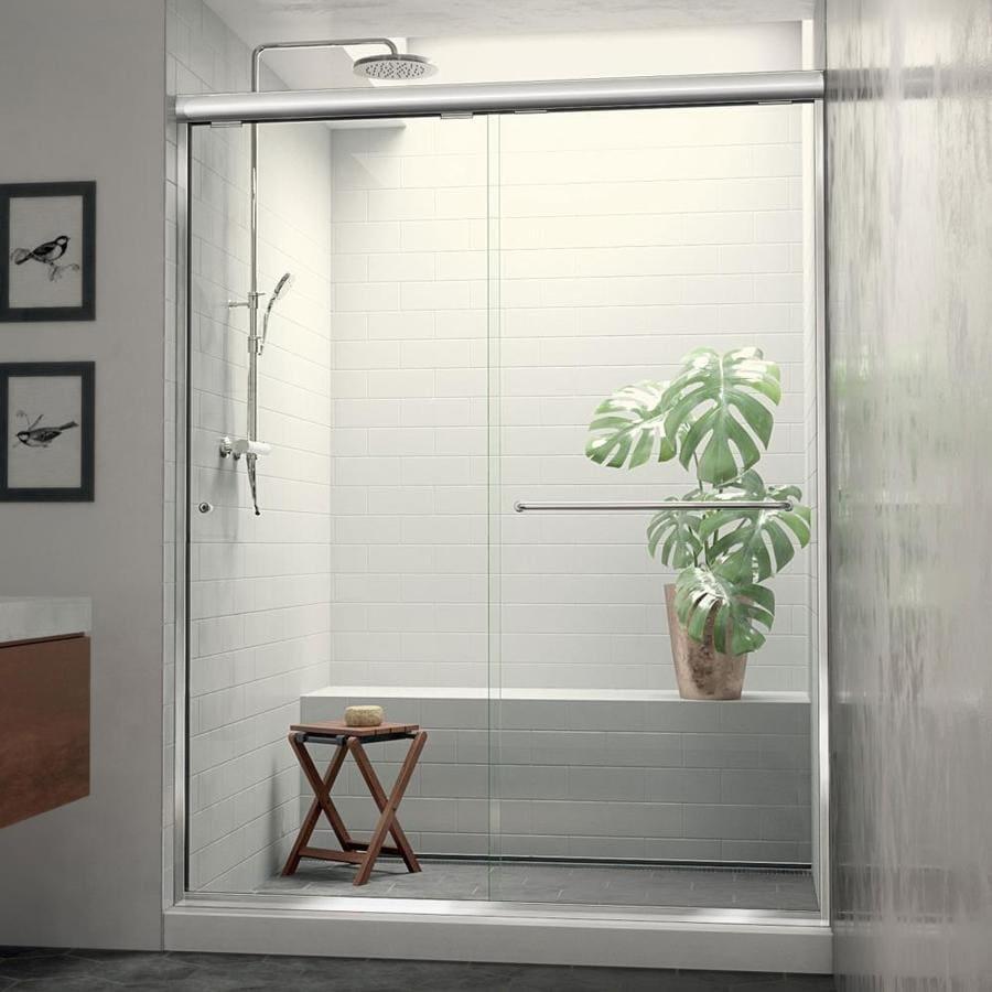 Arizona Shower Door Euro 56-in to 60-in W x 70.5-in H Chrome Sliding Shower Door