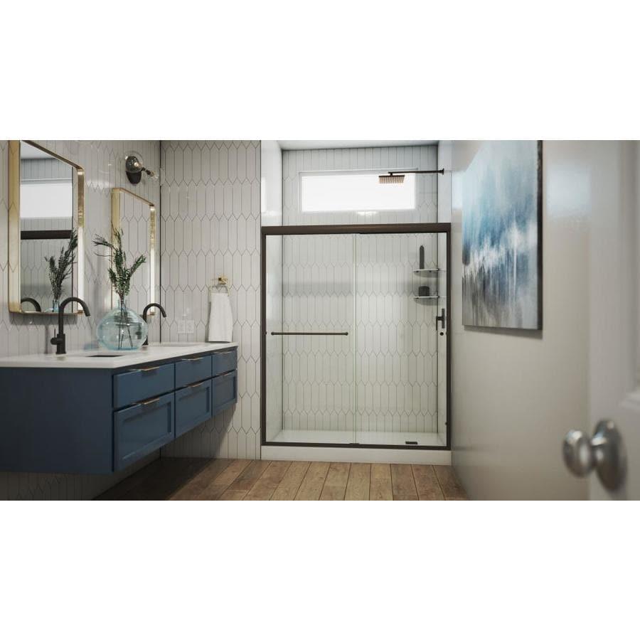 Arizona Shower Door Lite Euro 56-in to 60-in W x 70.375-in H Oil-Rubbed Bronze Sliding Shower Door