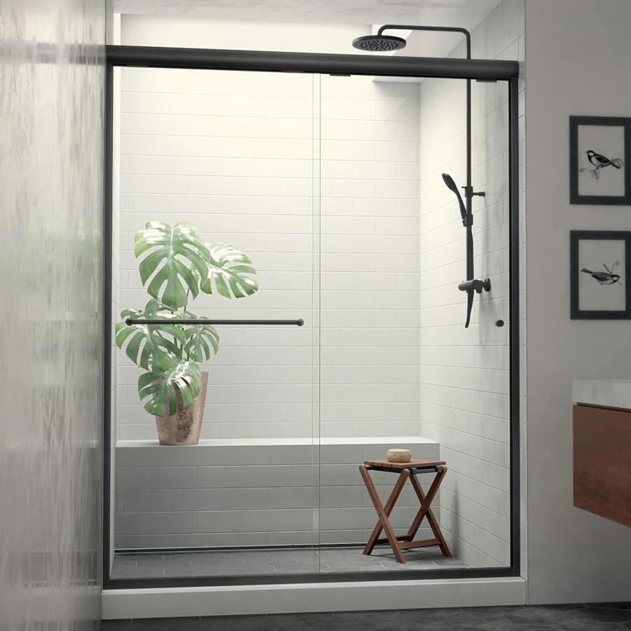 Arizona Shower Door Euro 56-in to 60-in Frameless Anodized Oil-Rubbed Bronze Sliding Shower Door