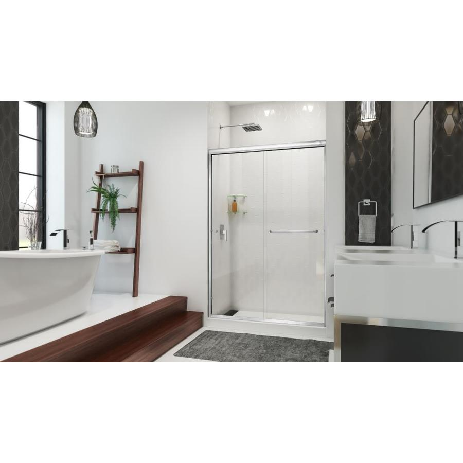 Arizona Shower Door Euro 44-in to 48-in W x 76.375-in H Chrome Sliding Shower Door