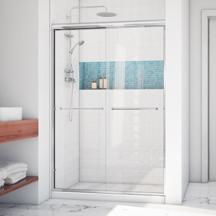 Arizona Shower Door Lite Euro 50-in to 54-in W Frameless Chrome Sliding Shower Door