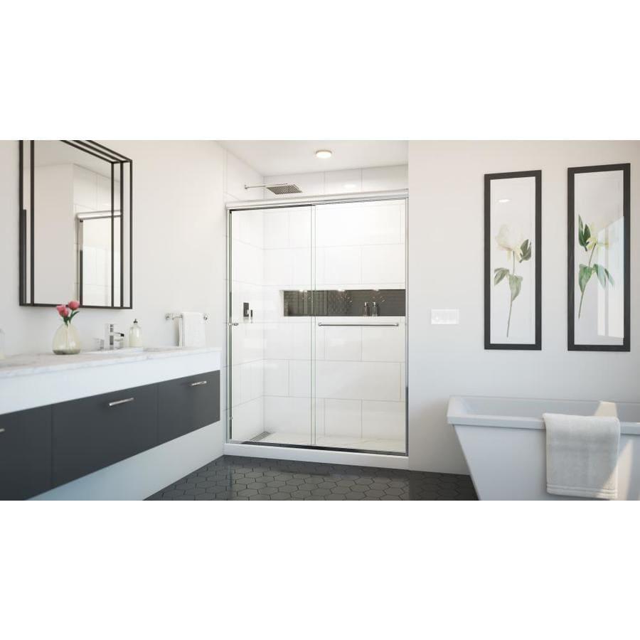 Arizona Shower Door Euro 56-in to 60-in W Frameless Chrome Sliding Shower Door