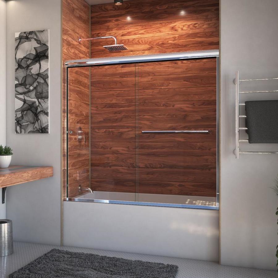 Arizona Shower Door Euro 68-in to 72-in W x 57.375-in H Chrome Sliding Shower Door