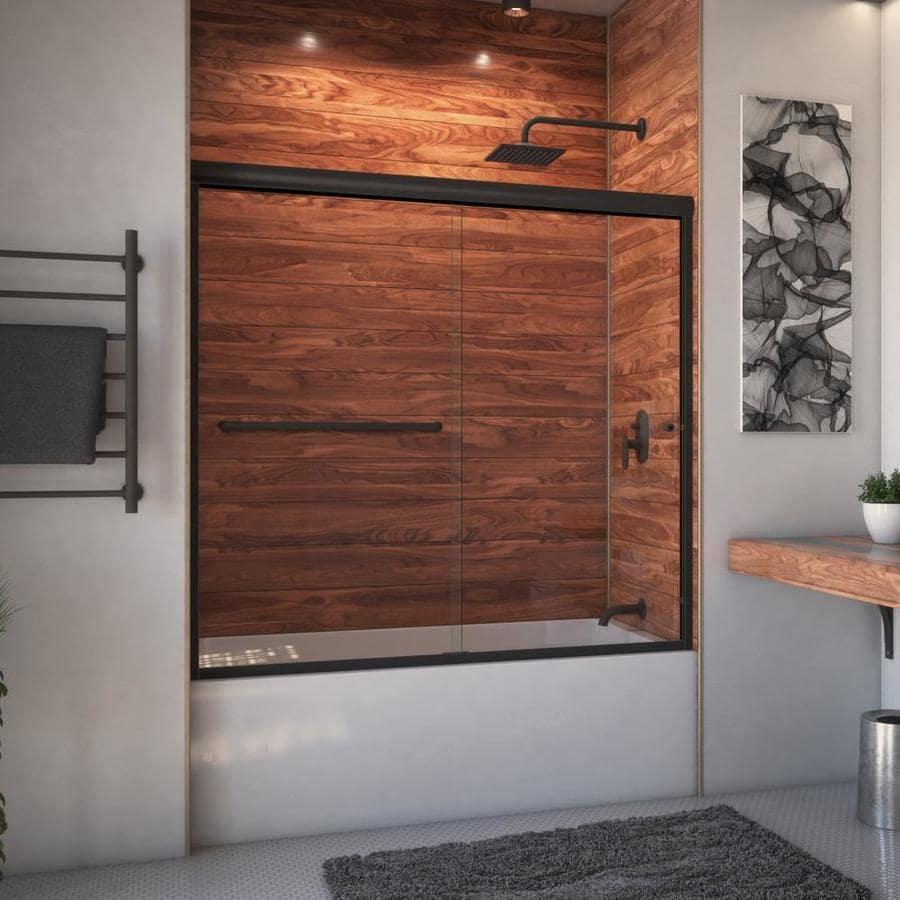 Arizona Shower Door Euro 68-in to 72-in W Frameless Anodized Oil-Rubbed Bronze Sliding Shower Door