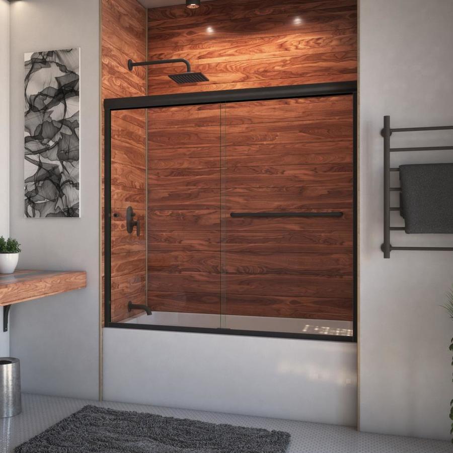 Arizona Shower Door Euro 68-in to 72-in W x 57.375-in H Oil-Rubbed Bronze Sliding Shower Door