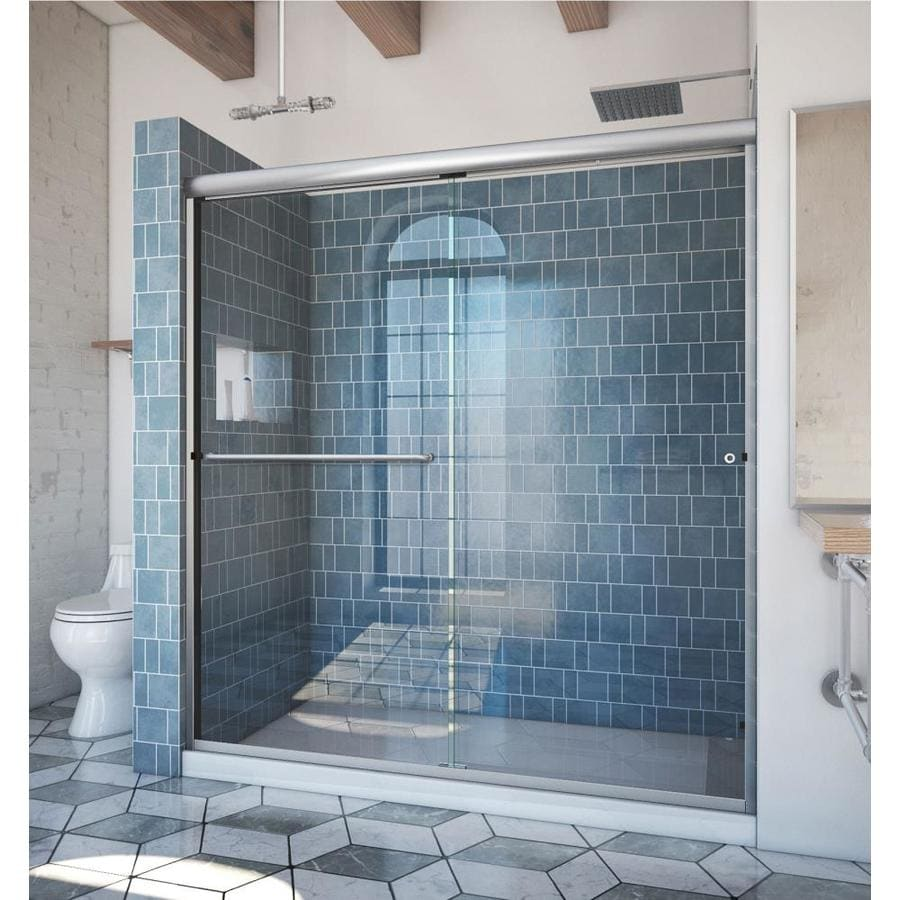 Arizona Shower Door Euro 68-in to 72-in W x 70.375-in H Brushed Nickel Sliding Shower Door