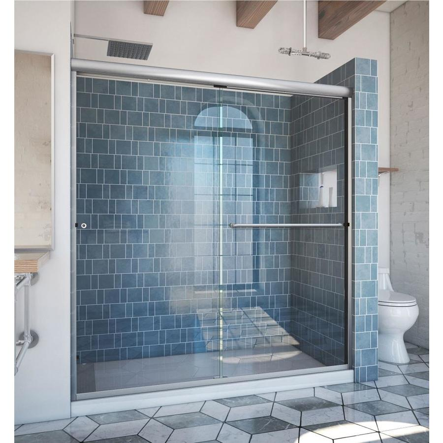 Arizona Shower Door Euro 68 In To 72 In W Semi Frameless Brushed