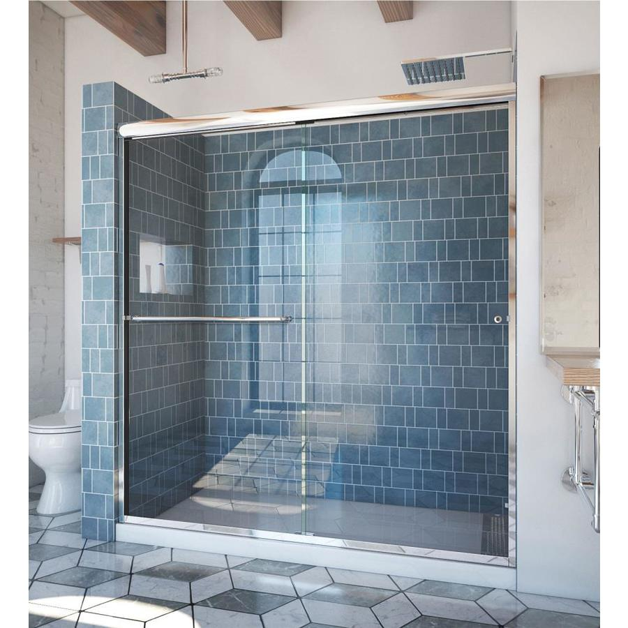 Arizona Shower Door Euro 68-in to 72-in W x 70.375-in H Chrome Sliding Shower Door