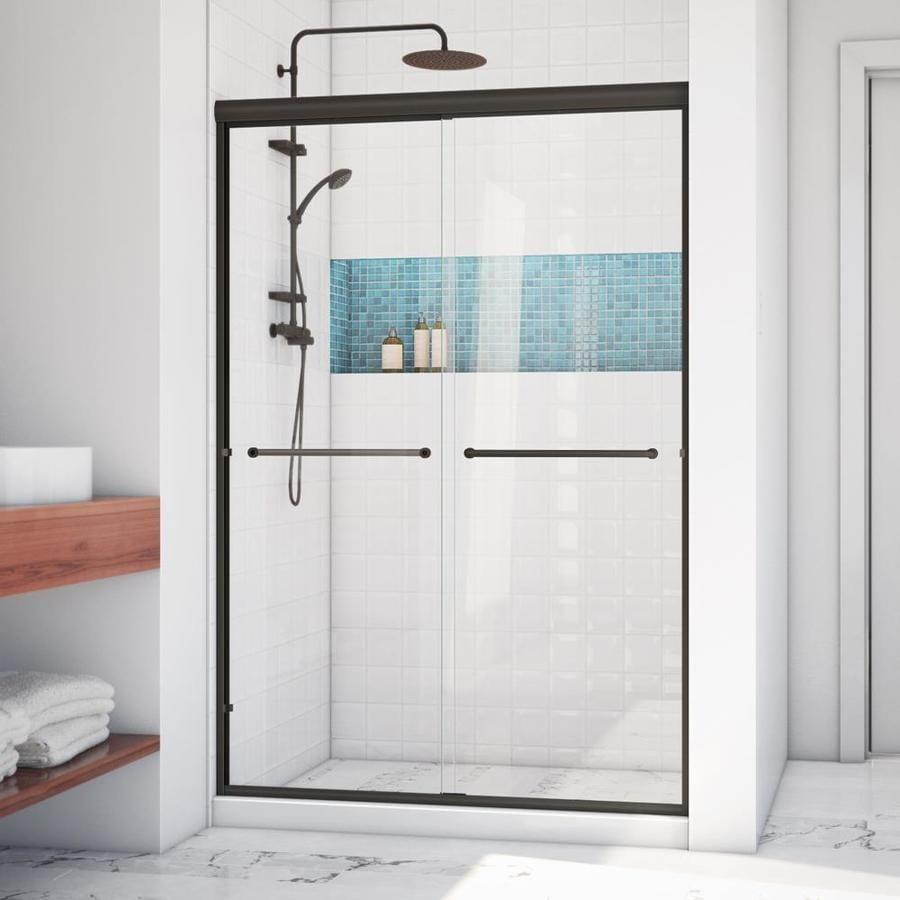 Arizona Shower Door Lite Euro 56-in to 60-in W Frameless Anodized Oil-Rubbed Bronze Sliding Shower Door