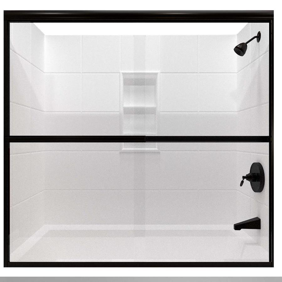 Arizona Shower Door Lite Euro 54-in to 58-in Frameless Shower Door