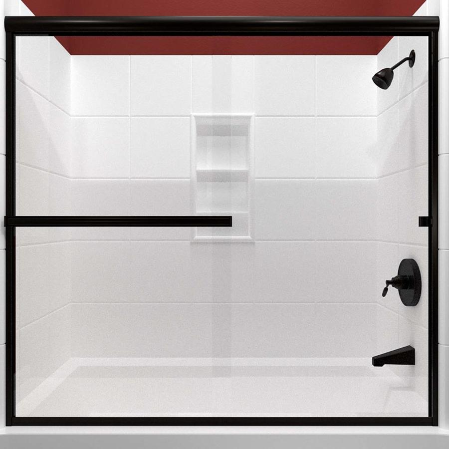 Arizona Shower Door Lite Euro 62-in to 66-in W Frameless Anodized Oil-Rubbed Bronze Sliding Shower Door