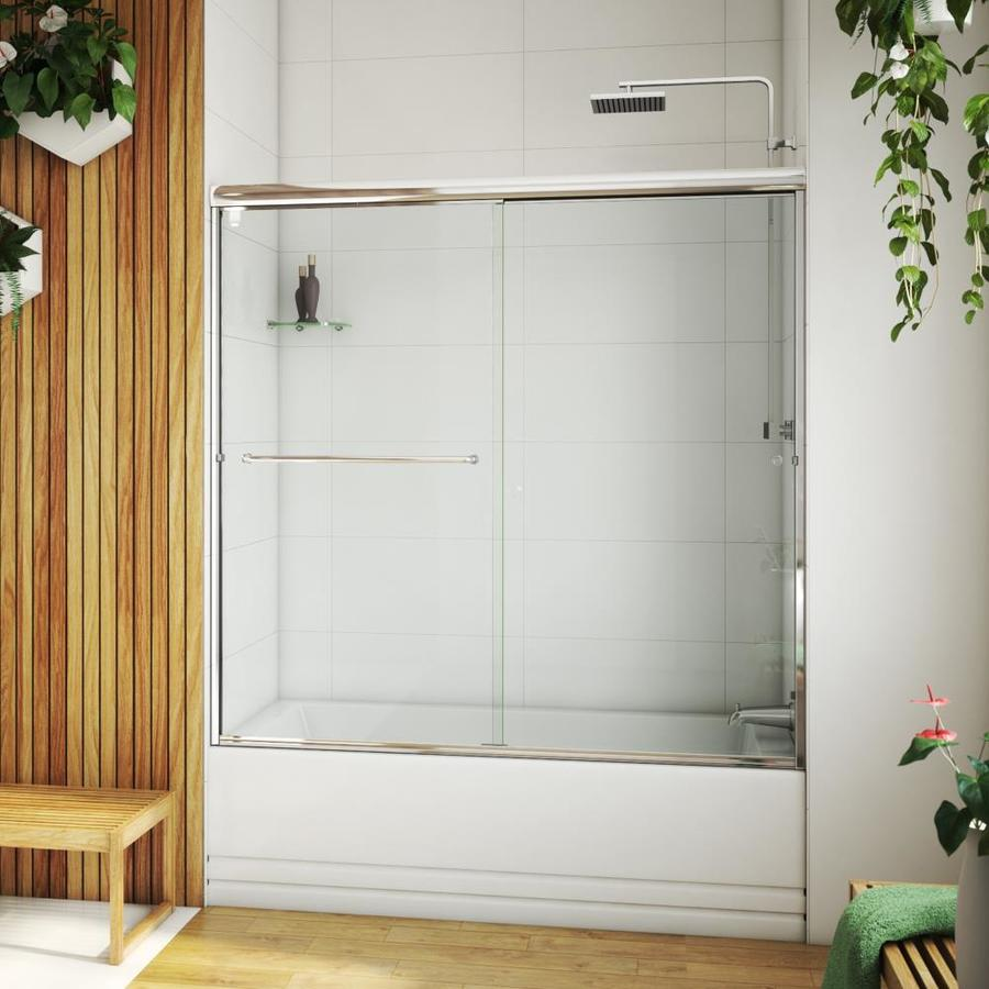 Arizona Shower Door Lite Euro 56-in to 60-in W x 55.375-in H Chrome Sliding Shower Door
