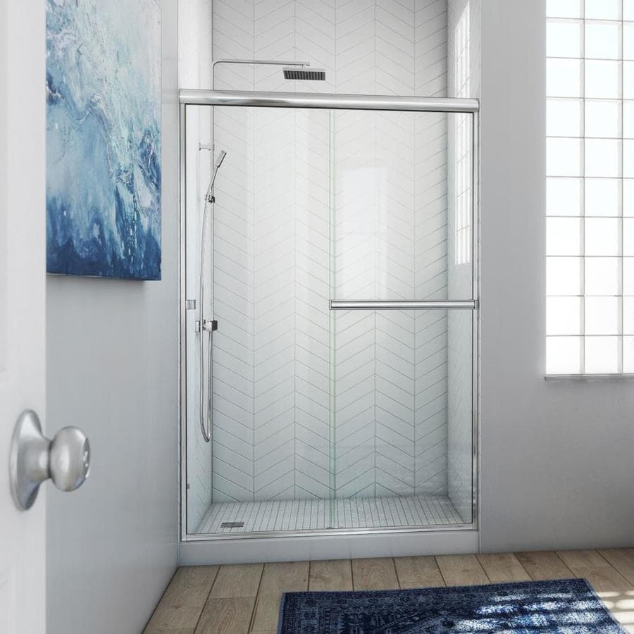 Arizona Shower Door Lite Euro 50-in to 54-in W x 70.375-in H Chrome Sliding Shower Door
