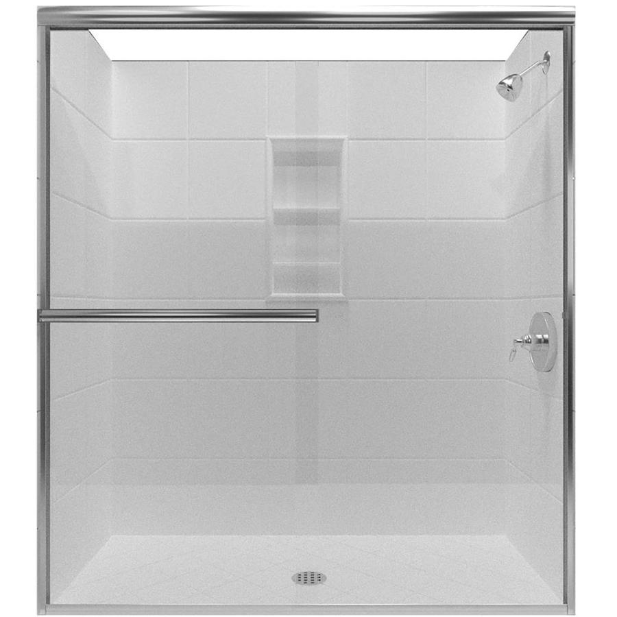 Arizona Shower Door Lite Euro 62-in to 66-in Frameless Shower Door