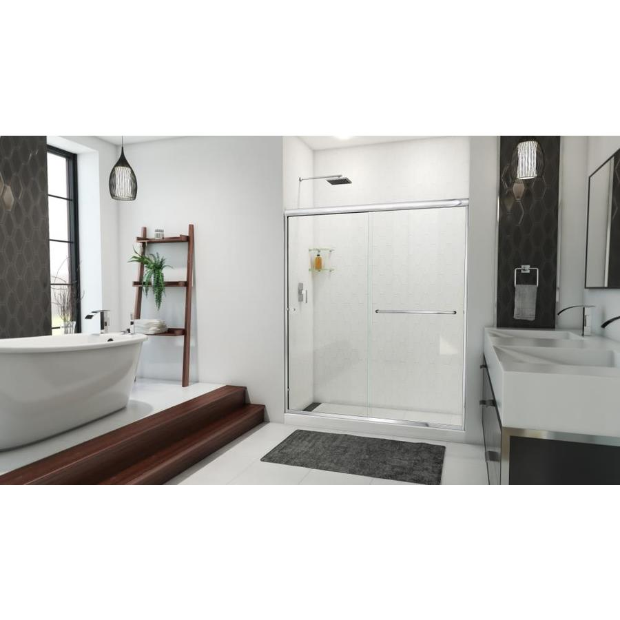 shop arizona shower door lite 56 in to 60 in w x 70 87740