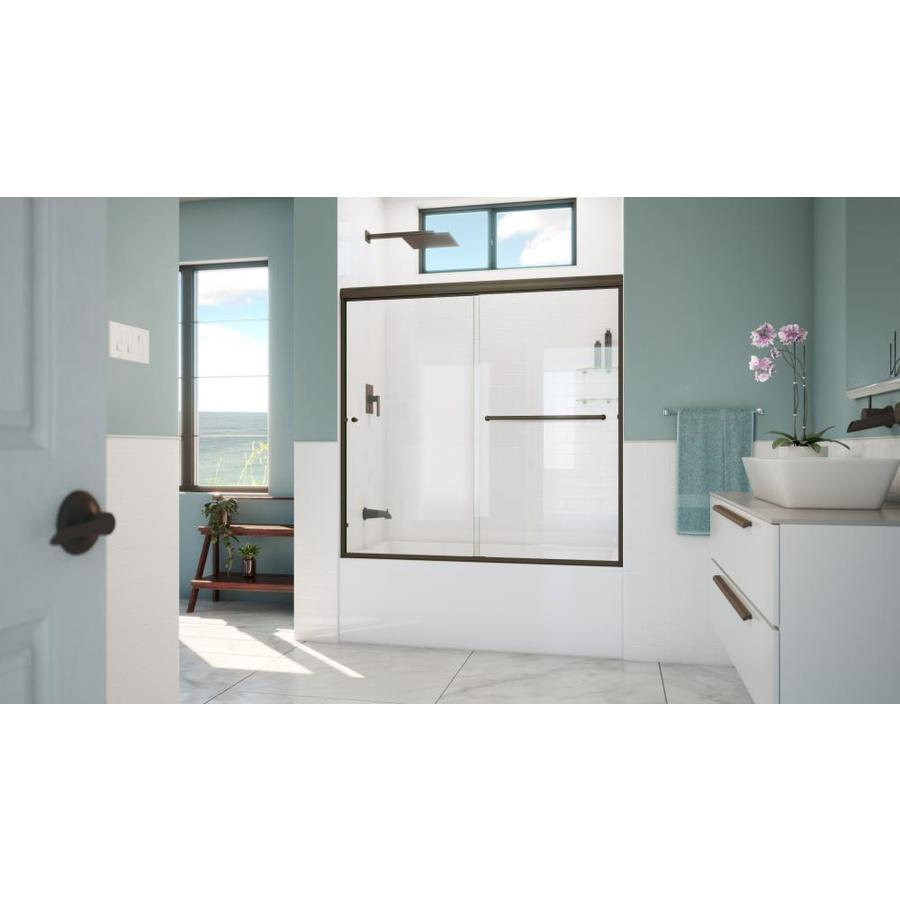 Arizona Shower Door Lite Euro 56-in to 60-in W x 57.375-in H Oil-Rubbed Bronze Sliding Shower Door