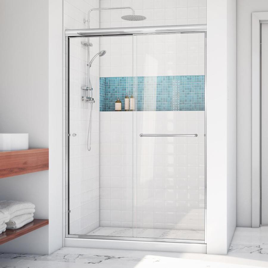 Arizona Shower Door Lite Euro 50-in to 54-in W x 70.375-in H Chrome Sliding Shower Door