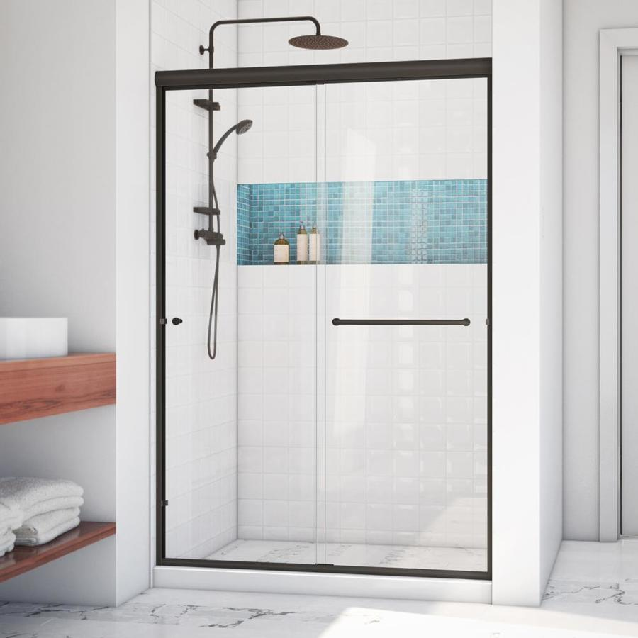 Arizona Shower Door Lite Euro 50-in to 54-in W x 70.375-in H Oil-Rubbed Bronze Sliding Shower Door