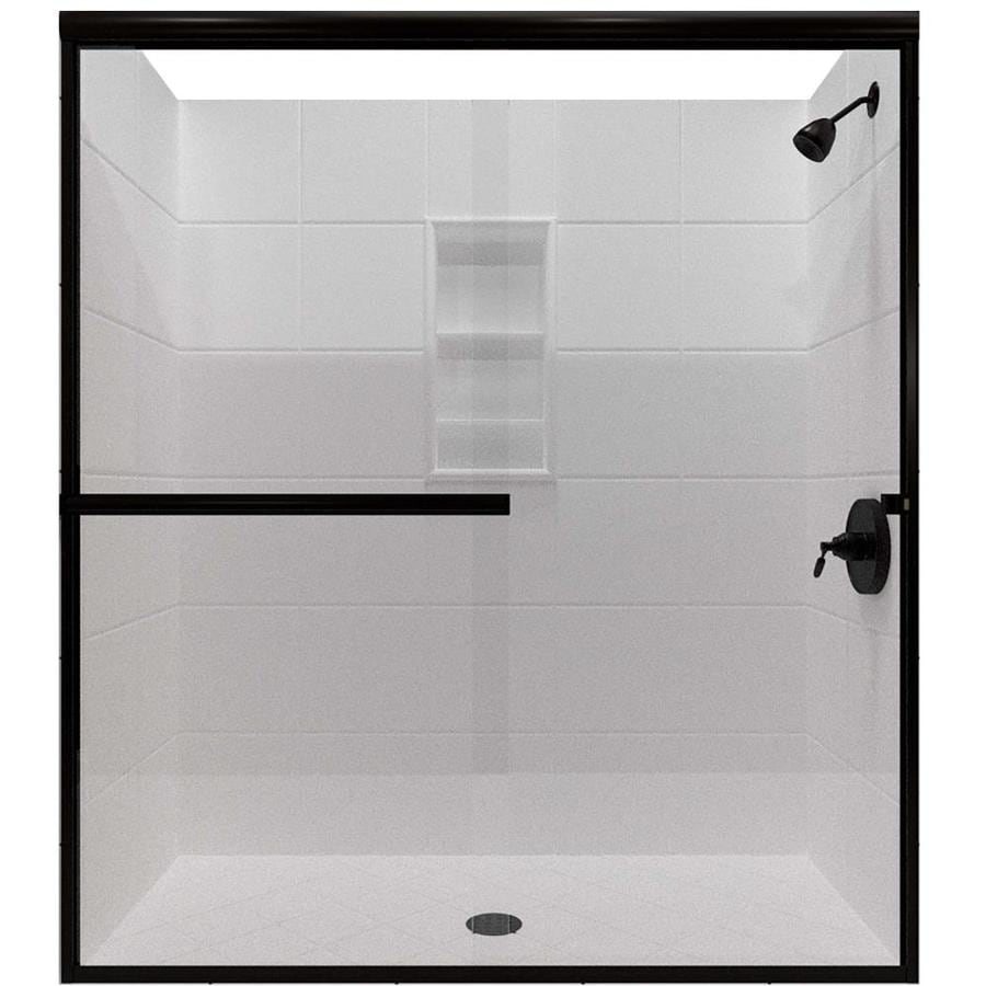 Arizona Shower Door Lite Euro 56-in to 60-in W x 76.375-in H Oil-Rubbed Bronze Sliding Shower Door