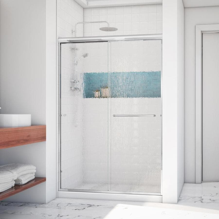 Arizona Shower Door Lite Euro 56-in to 60-in W Frameless Chrome Sliding Shower Door