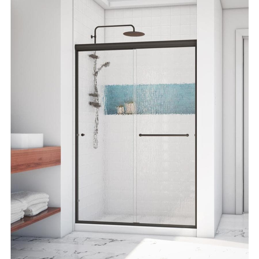 Arizona Shower Door Lite Euro 50-in to 54-in Frameless Anodized Oil-Rubbed Bronze Shower Door