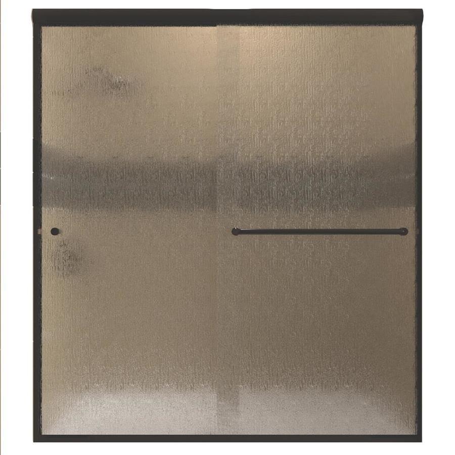 Arizona Shower Door Lite Euro 44-in to 48-in Frameless Anodized Oil-Rubbed Bronze Sliding Shower Door