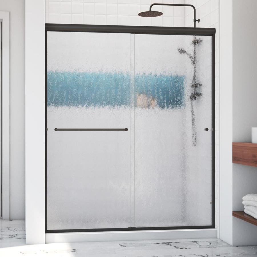 Arizona Shower Door Lite Euro 56-in to 60-in W x 65.375-in H Oil-Rubbed Bronze Sliding Shower Door