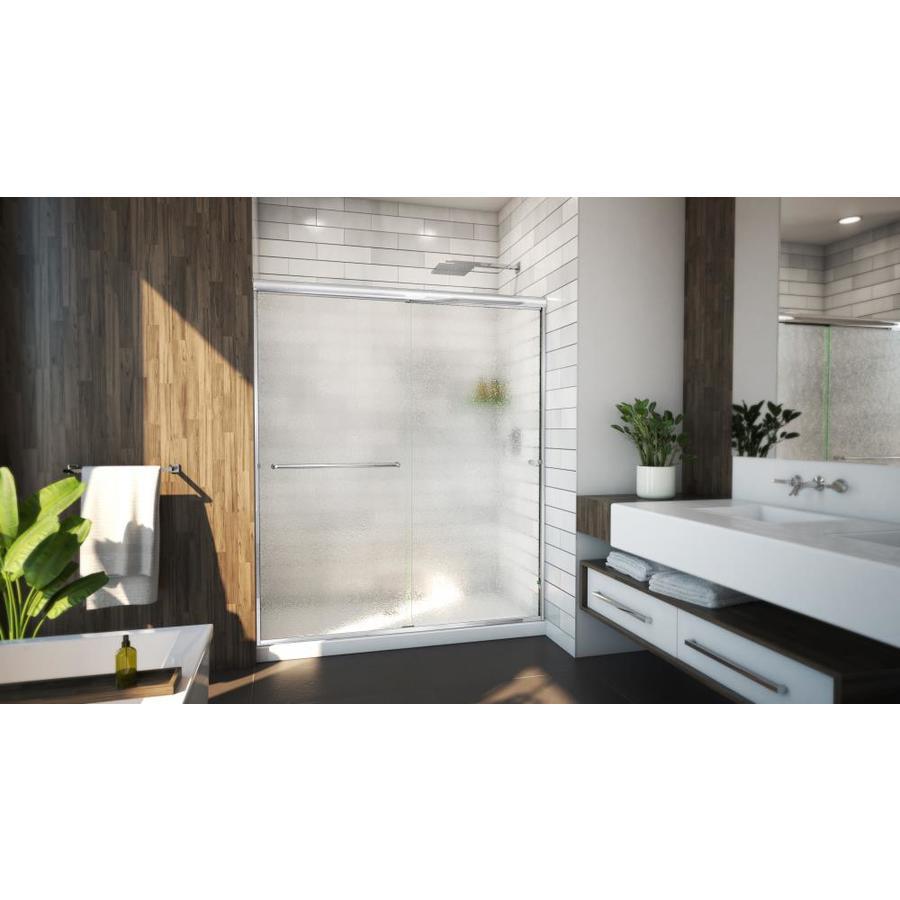 Arizona Shower Door Lite Euro 56-in to 60-in W x 70.375-in H Chrome Sliding Shower Door