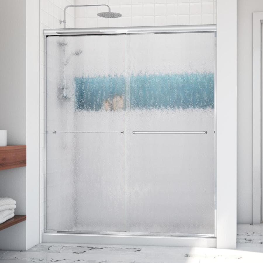 Arizona Shower Door Euro 56-in to 60-in Frameless Chrome Sliding Shower Door