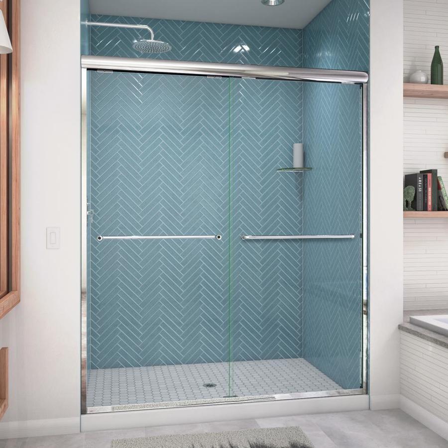 Arizona Shower Door Euro 56-in to 60-in W x 76.5-in H Chrome Sliding Shower Door
