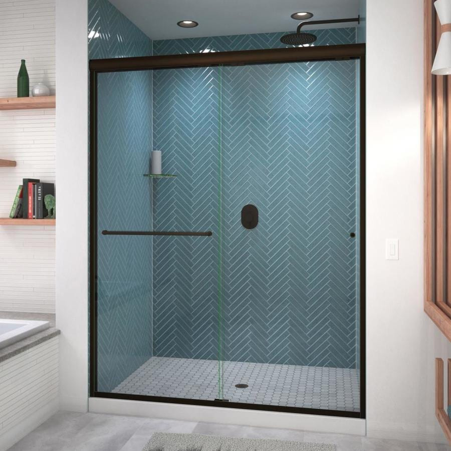Arizona Shower Door Euro 56-in to 60-in Frameless Anodized Oil-Rubbed Bronze Shower Door