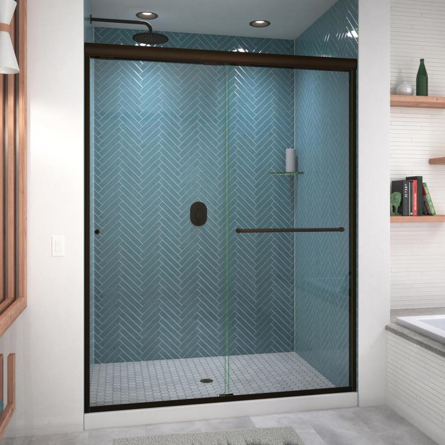 Arizona Shower Door Euro 56-in to 60-in W x 76.5-in H Oil-Rubbed Bronze Sliding Shower Door