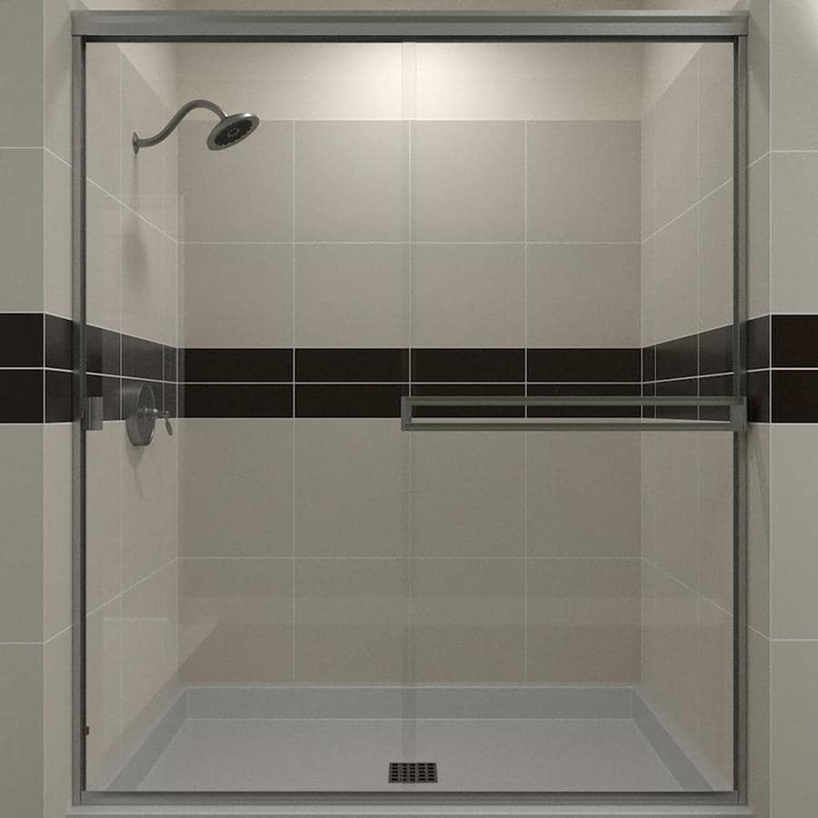 Arizona Shower Door Traditional 41-in to 45-in Frameless Chrome Sliding Shower Door