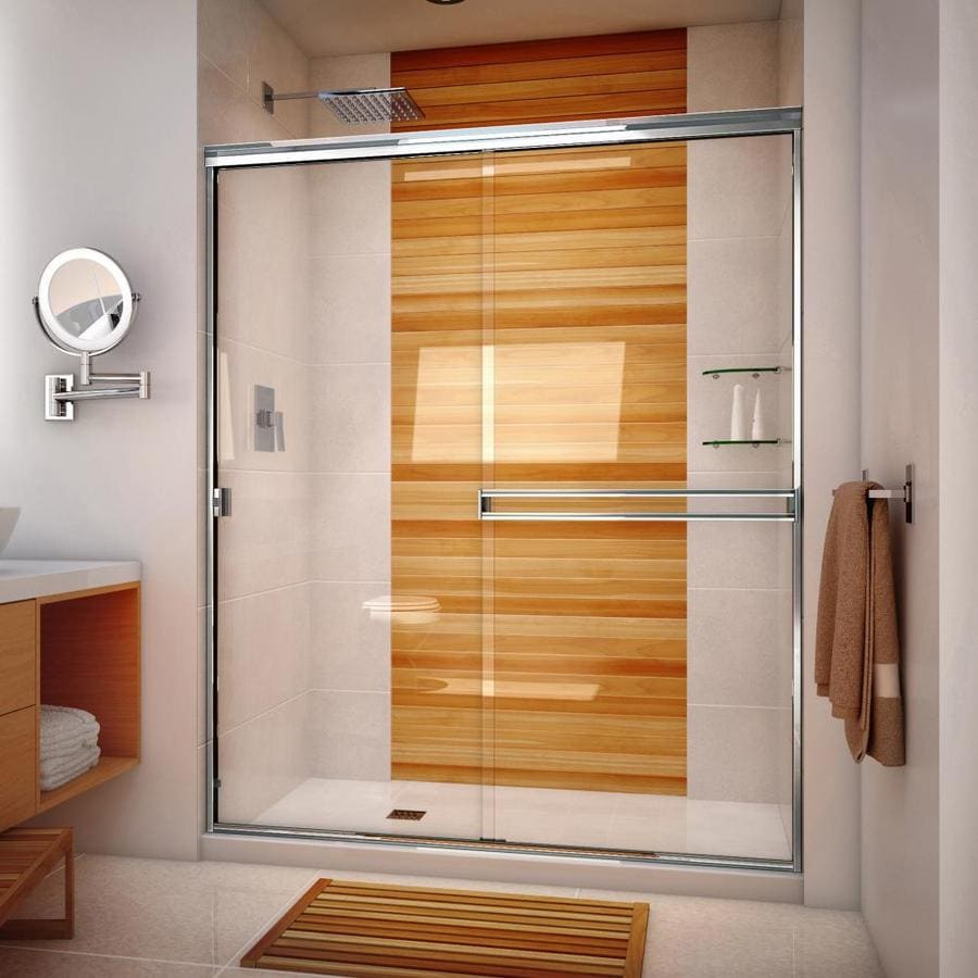 Arizona Shower Door Traditional 54-in to 58-in Frameless Chrome Sliding Shower Door
