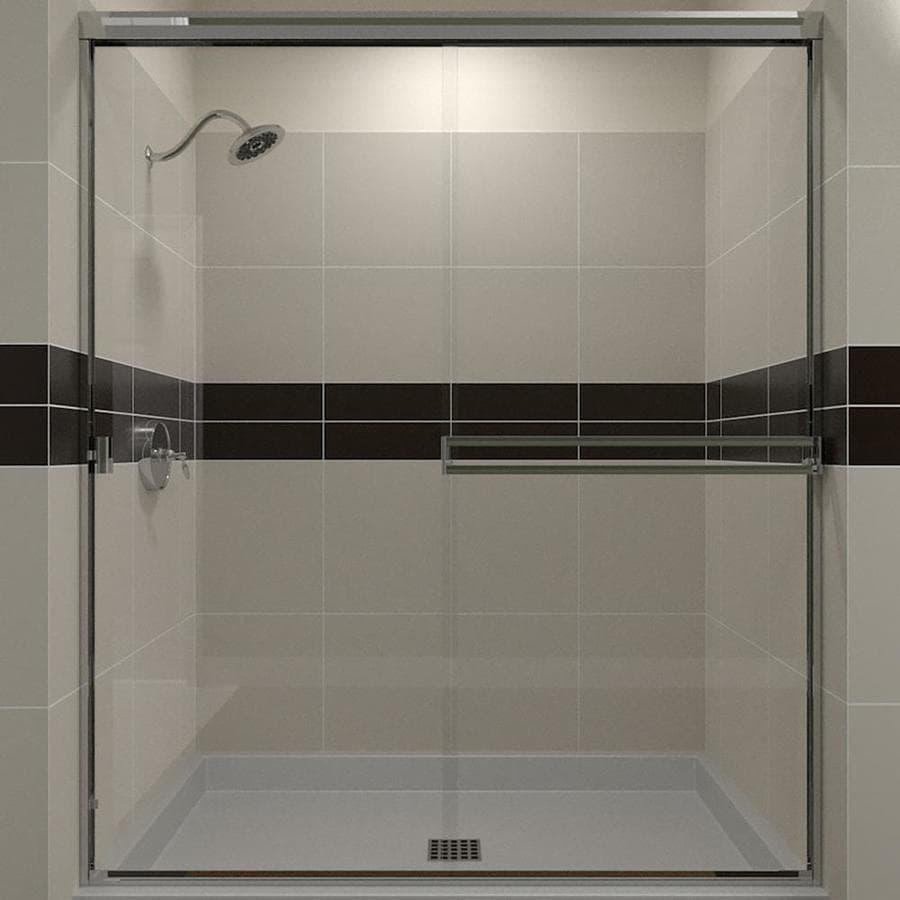 Arizona Shower Door Traditional 43-in to 47-in Frameless Chrome Sliding Shower Door