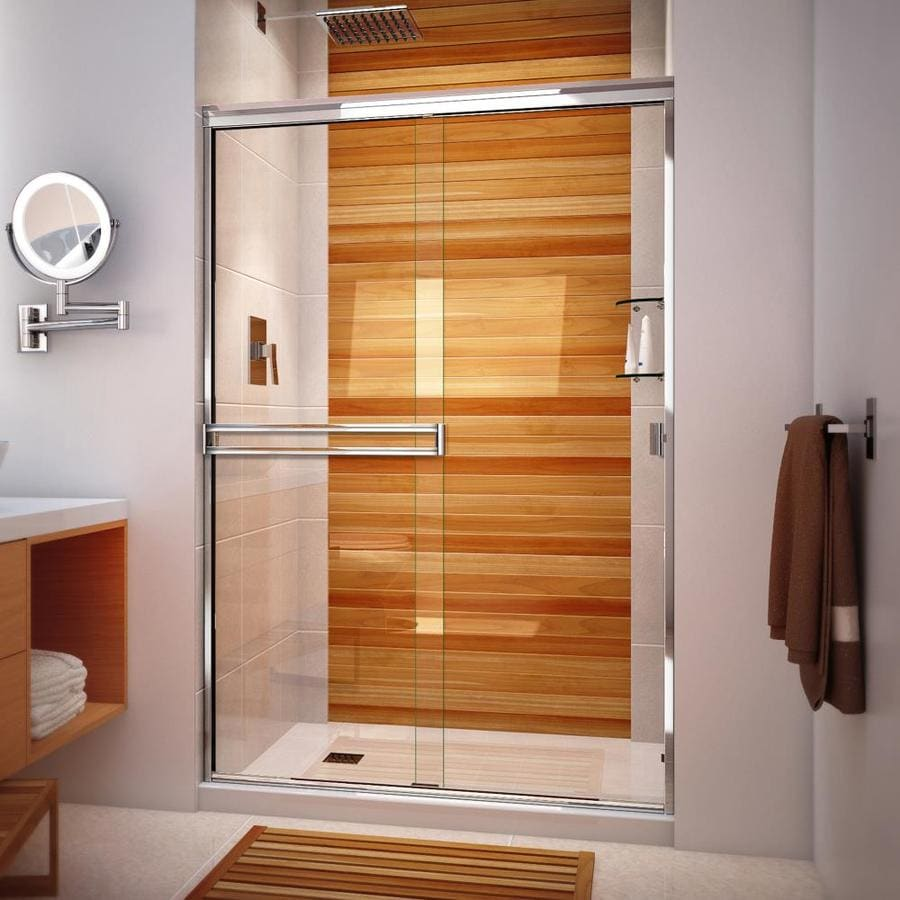 Arizona Shower Door Traditional 47-in to 51-in Frameless Chrome Sliding Shower Door