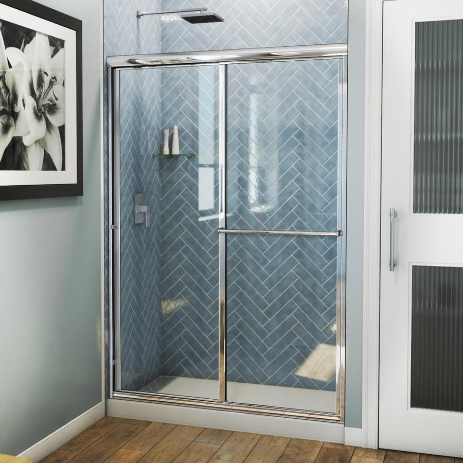 Arizona Shower Door Standard 44-in to 48-in Framed Brite Dipped Chrome Sliding Shower Door