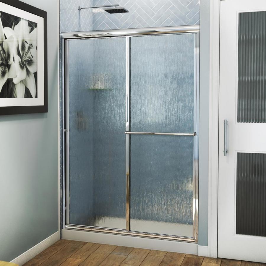 Arizona Shower Door Standard 44-in to 48-in W Framed Brite Dipped Chrome Sliding Shower Door
