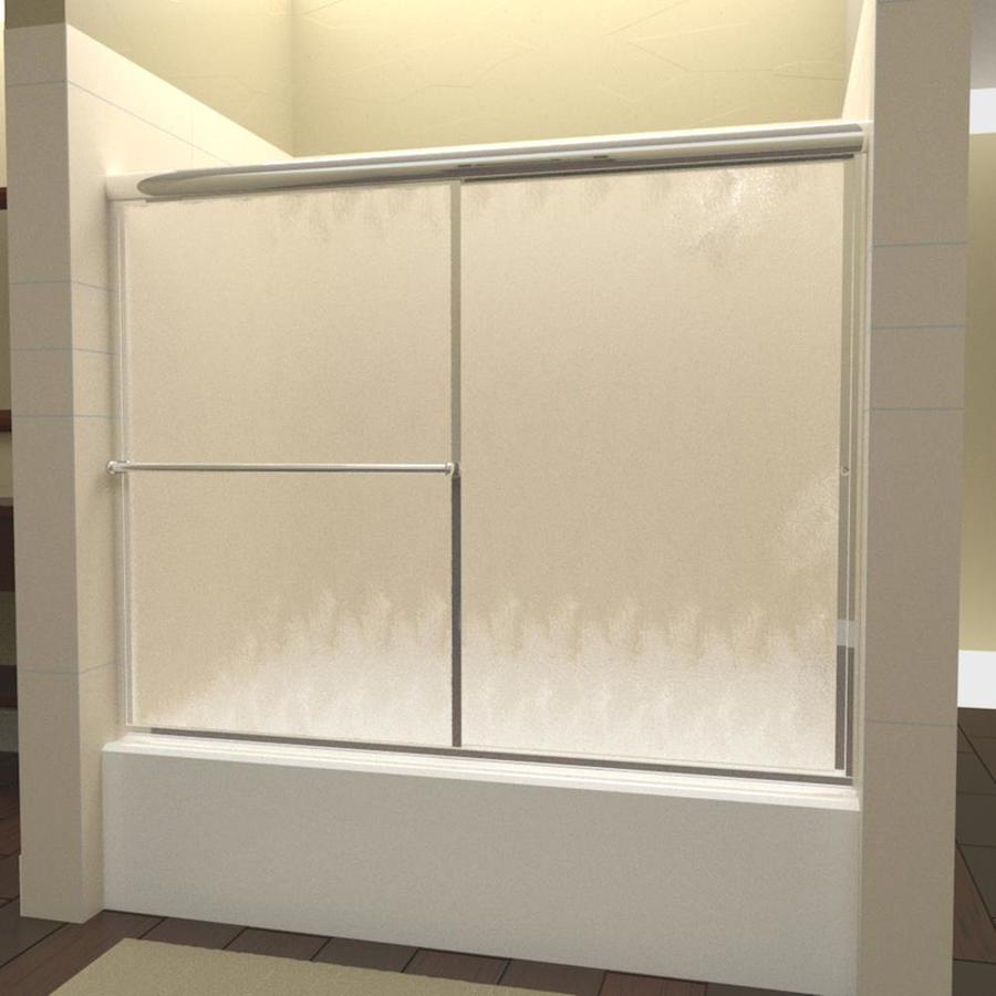 Arizona Shower Door Standard 52-in to 56-in W Framed Brite Dipped Chrome Sliding Shower Door