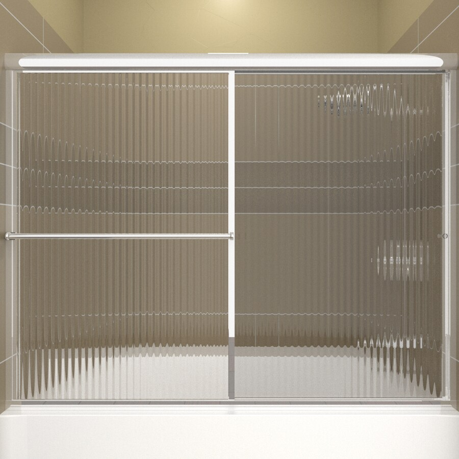 Arizona Shower Door Standard 56-in to 60-in Framed Bright Dipped Chrome Sliding Shower Door