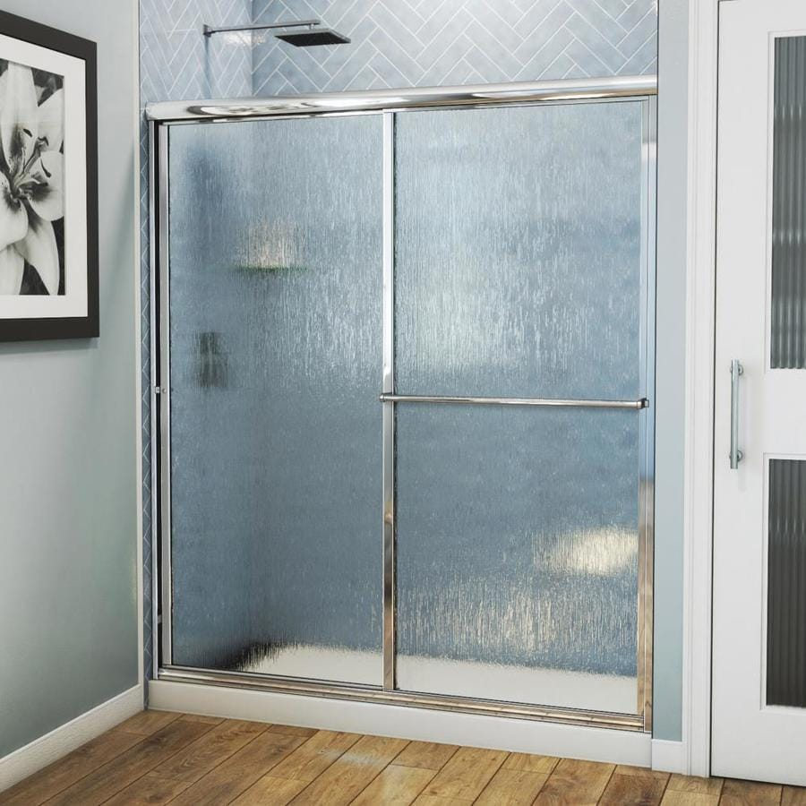 Arizona Shower Door Standard 56-in to 60-in Framed Brite Dipped Chrome Sliding Shower Door