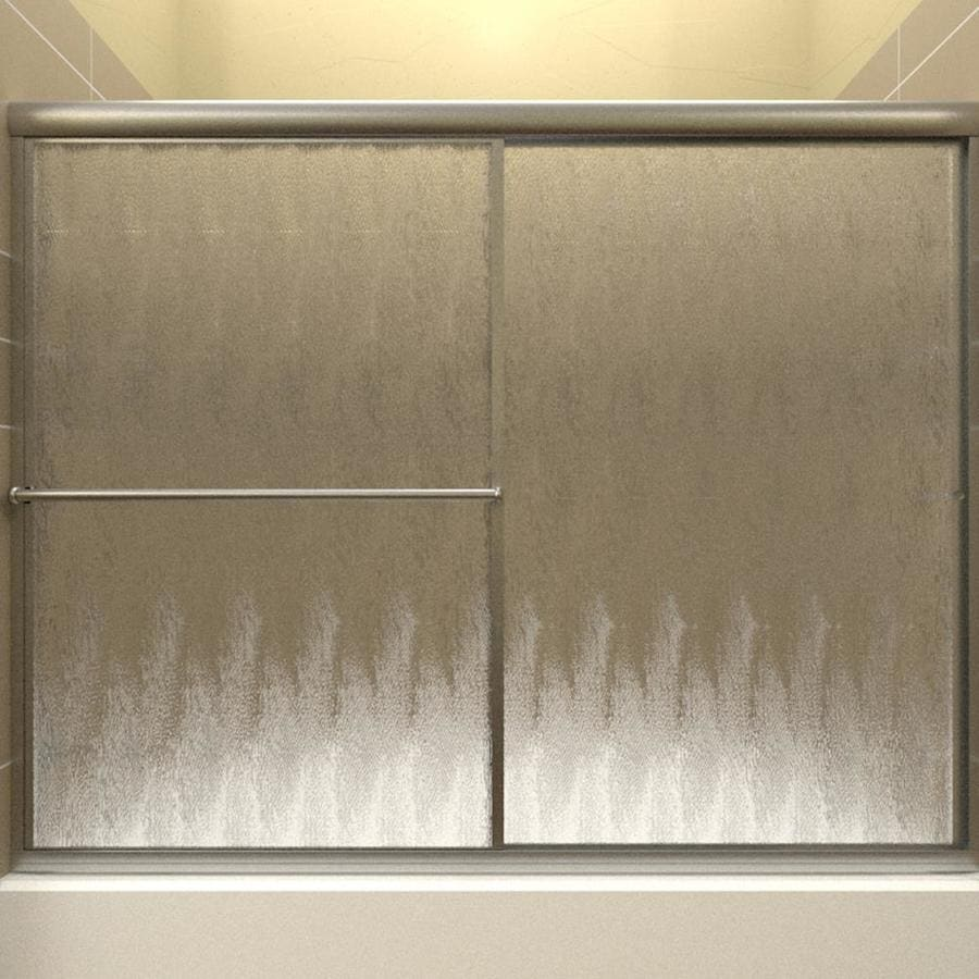 Arizona Shower Door Standard 56-in to 60-in Framed Brushed Nickel Sliding Shower Door