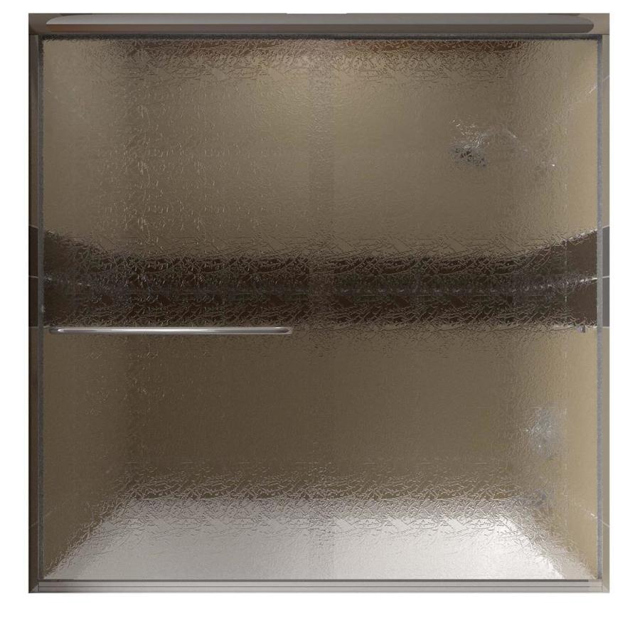 Arizona Shower Door Lite-Euro 56-in to 60-in W Semi-frameless Bypass