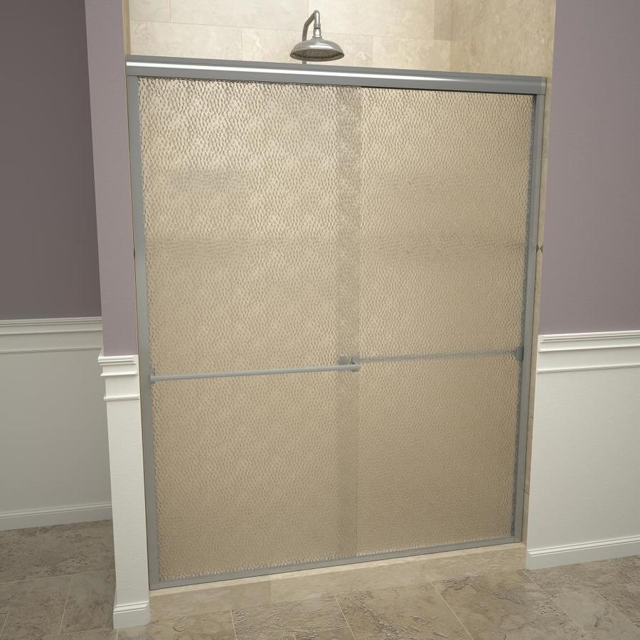 Redi Slide 43 In To 47 In W Semi Frameless Brushed Nickel