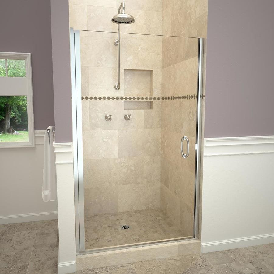 Redi Swing 27 In To 28 In W Semi Frameless Polished Chrome