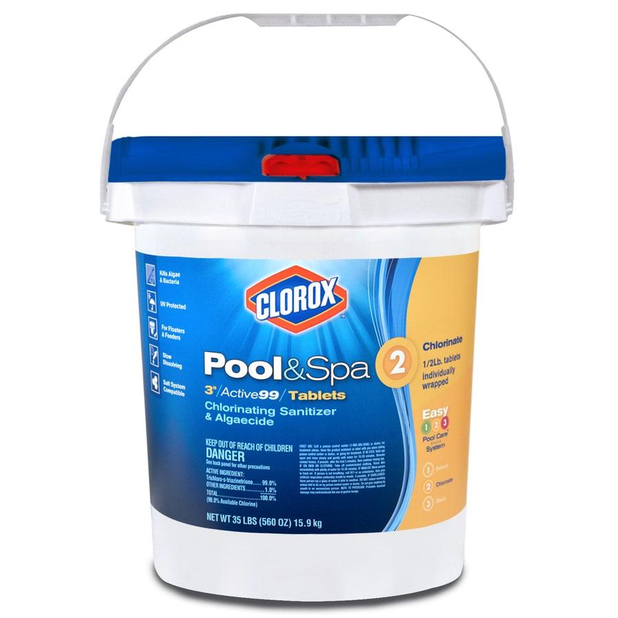 Genial Clorox Poolu0026Spa 35 Lb Bucket 3 In Pool Chlorine Tabs