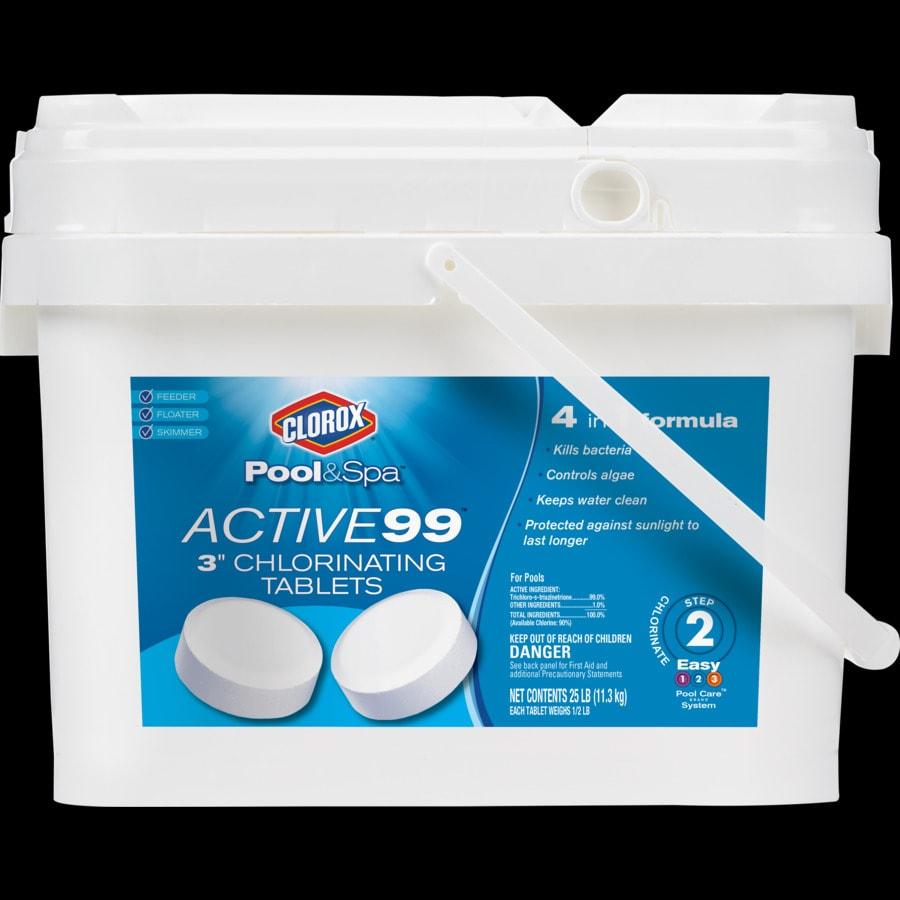 Shop Clorox Pool Spa 25 Lb Bucket 3 In Pool Chlorine Tabs At