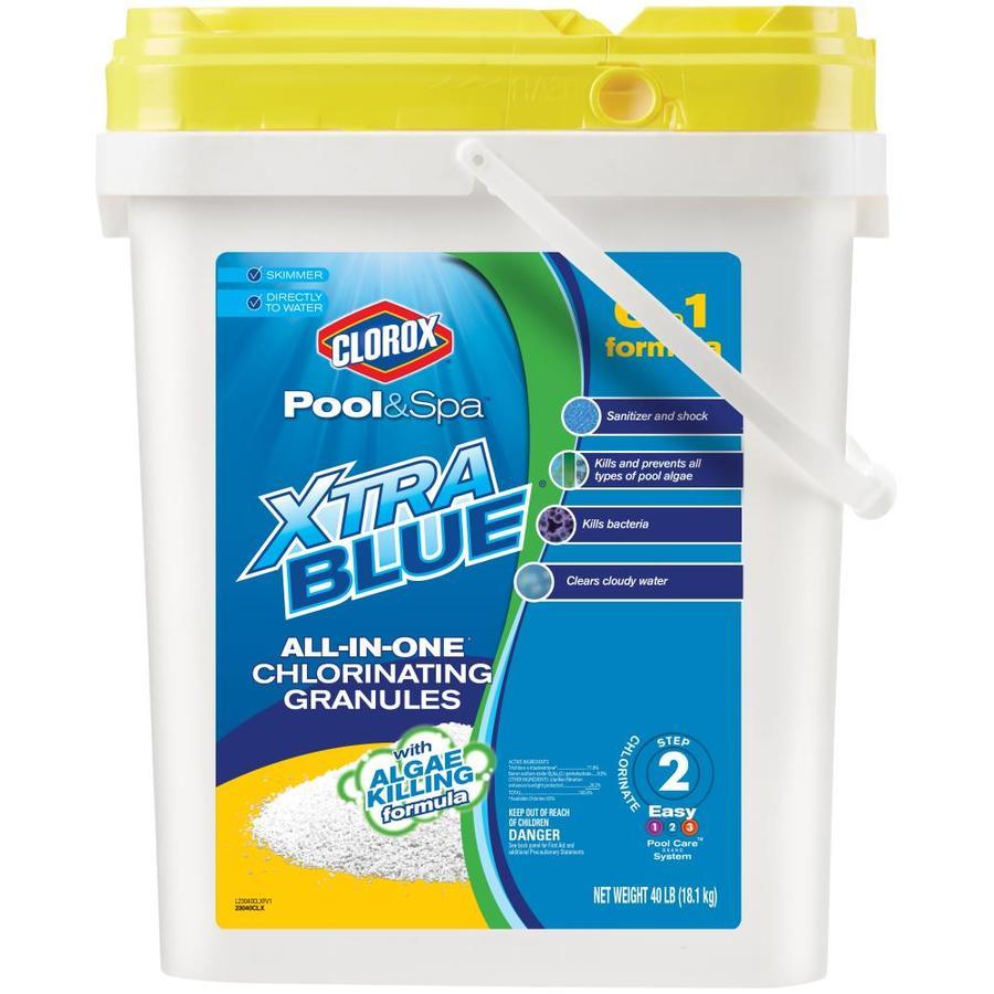 Clorox Pool&Spa XtraBlue All-in-One 40-lb Granular Pool Chlorine