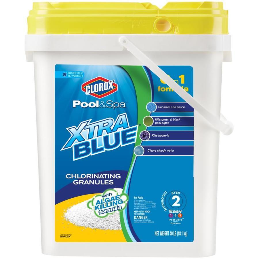 Clorox Pool&Spa XtraBlue 40-lb Granular Pool Chlorine
