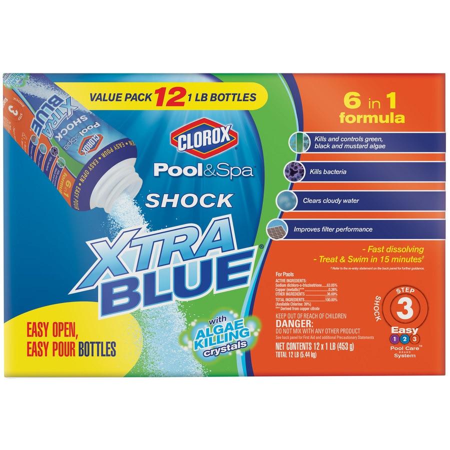 Clorox Pool&Spa 12-Pack Shock XtraBlue 16 oz. Pool Shock